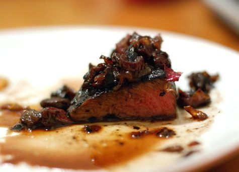 Steak with Cherry-Red Wine Sauce and you couldn't do any better than ...