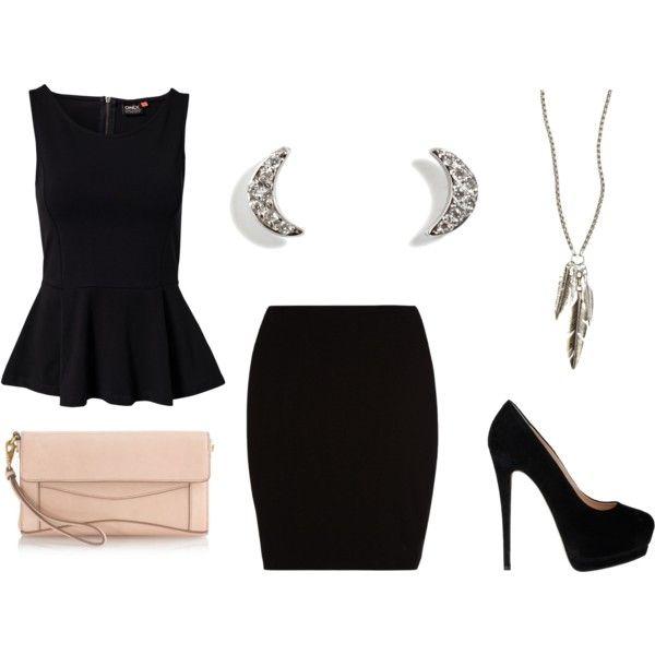 """""""black skirt"""" by yuu2y on Polyvore"""