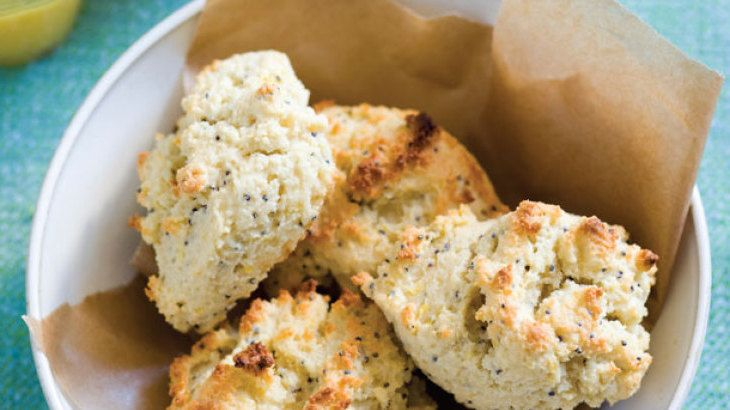 Gluten and Sugar-Free Lemon and Poppy Seed Scones Recipe