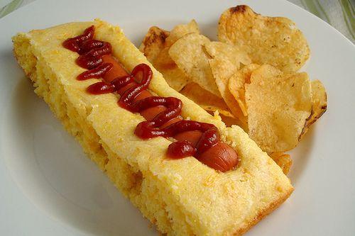 Corn dog casserole Very yummy!! | food | Pinterest