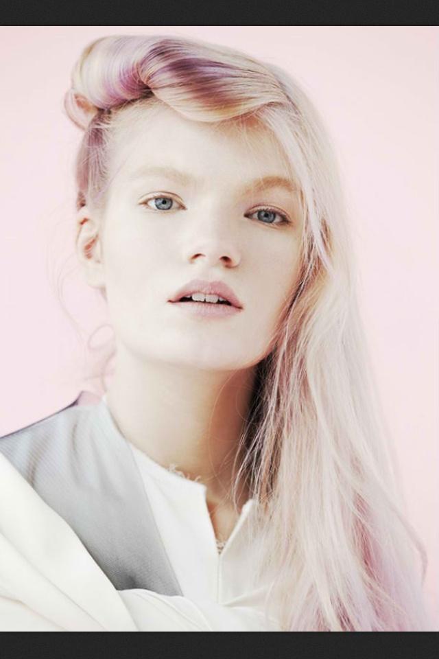 Blonde Hair Purple Lowlights