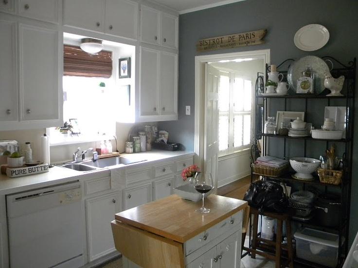 touch of dark blue slate grey  Kitchens  Pinterest