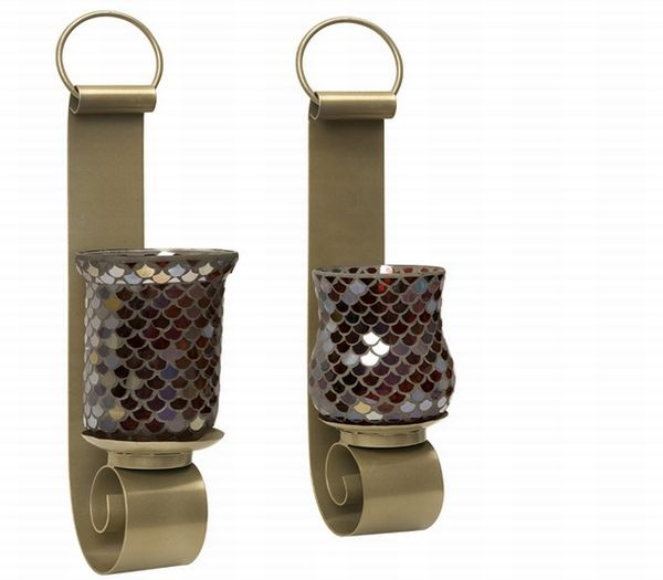 Wall Sconce Pillar Candle Holders : Mosaic Pillar Candle Holder Wall Sconces Architectural Design Home