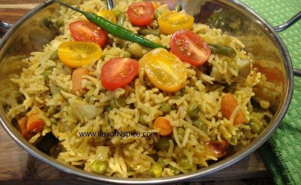 Spicy Vegetable Rice Pilaf | food | Pinterest