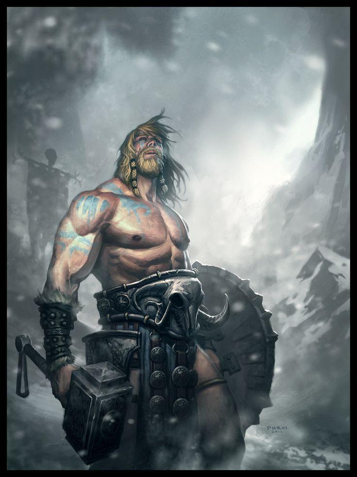 Thor by Phroilan Gardner, concept artist. (Photoshop)