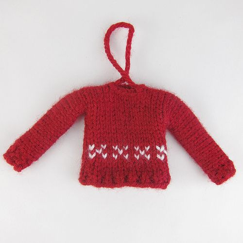 tiny sweater ornament Everybody knits Pinterest