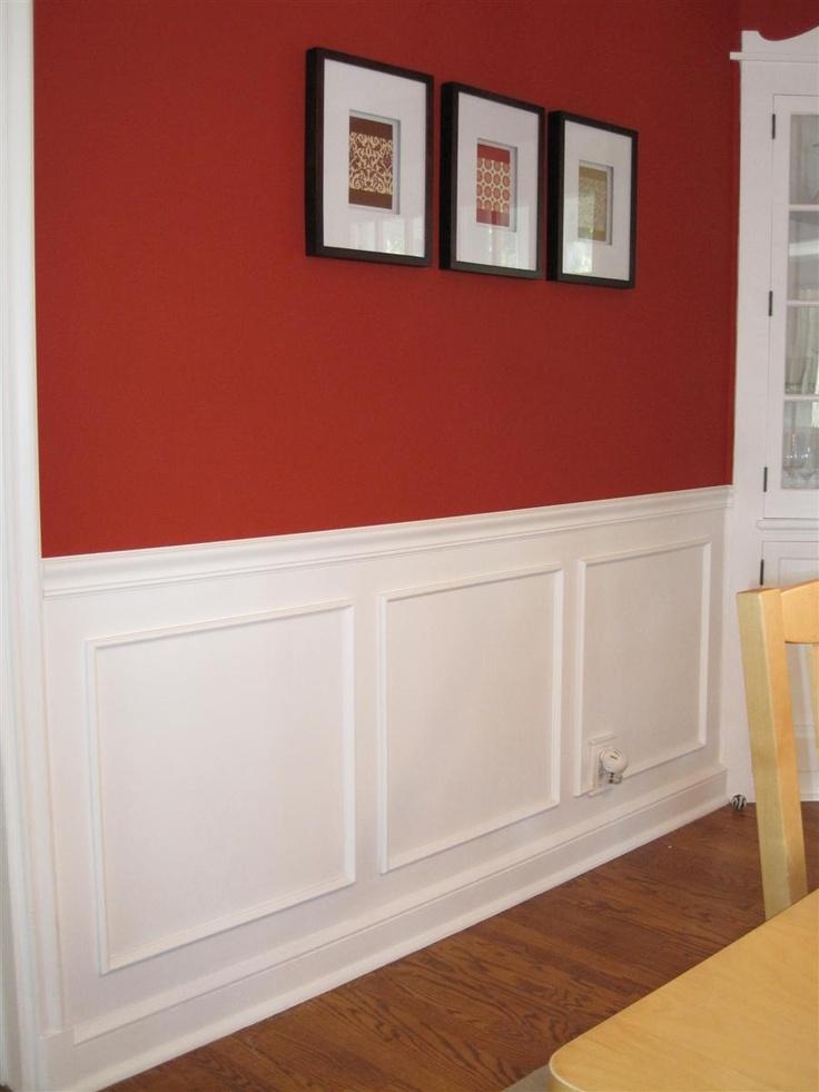 wall moldings ideas livingroom Moldings Pinterest