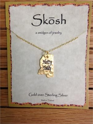Skosh Hotty Toddy MS Necklace-Gold