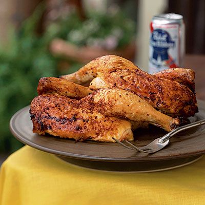 Beer-Can Chicken with Cola Barbecue Sauce   CookingLight.com