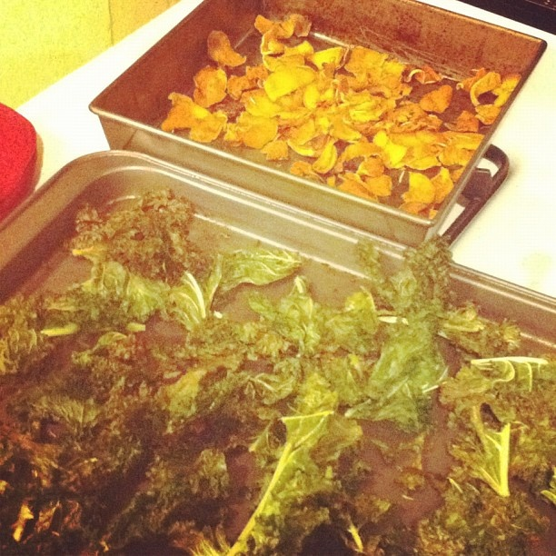 and kale chips (Taken with instagram) -Olive oil -Rosemary -Chili ...