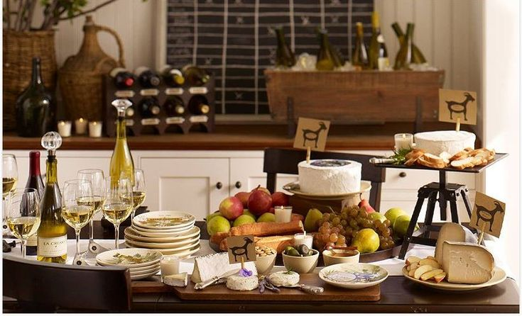 Wine and cheese pairing dinner party with just goat cheese!