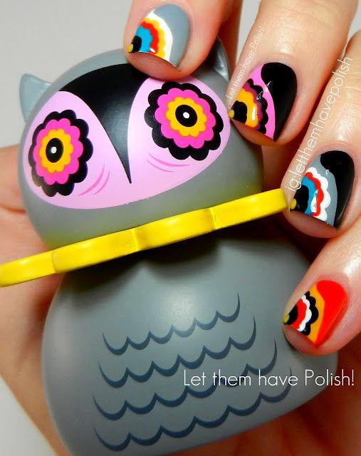 Let them have Polish!: #Kidrobot Misko Owl Inspired Nail Art