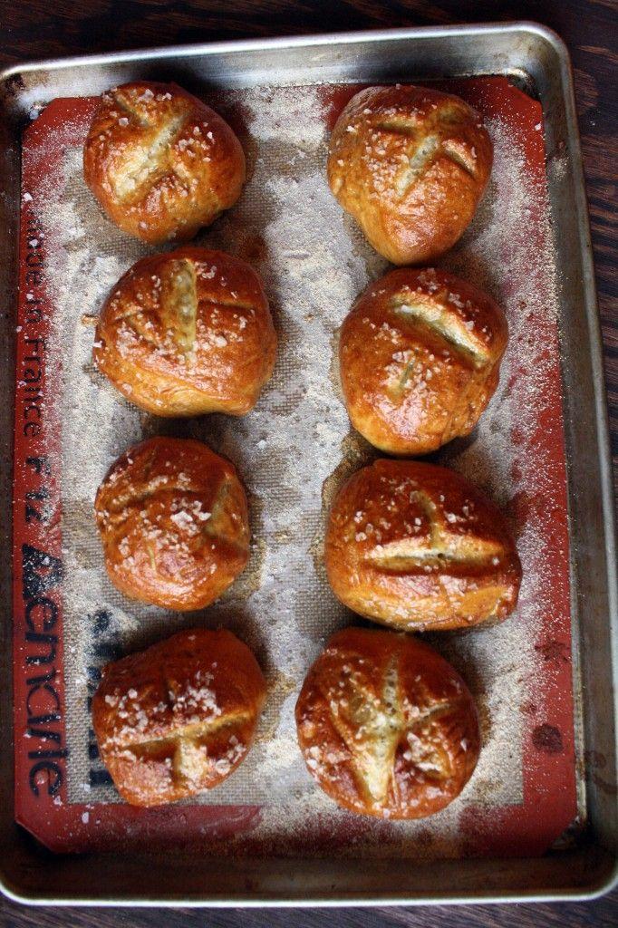 Homemade Pretzel Rolls!! | Recipes & Deliciousness | Pinterest