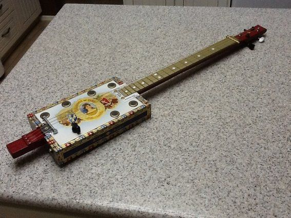 Custom made 4 string cigar box guitar cigar box guitars amp amps pi