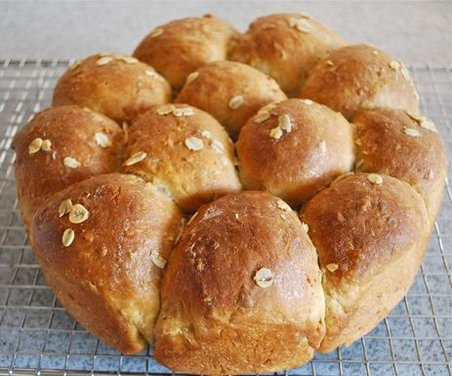"Heavenly Oatmeal-Molasses Rolls. ""These supple, rich rolls have just a ..."