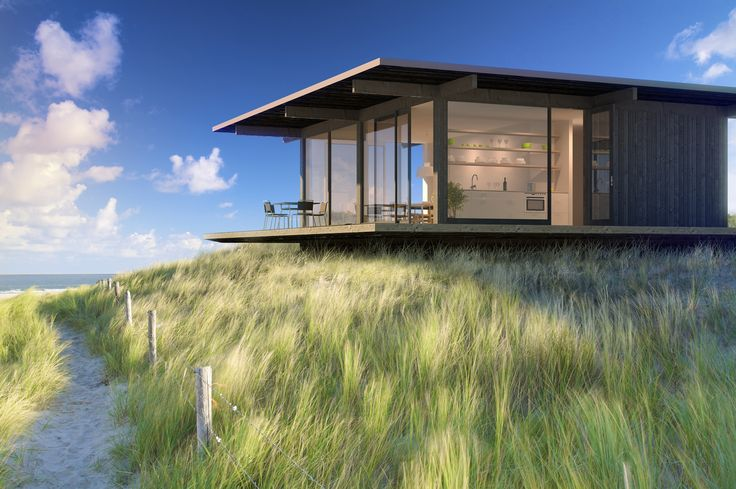 Prefab house rumah pinterest for Prefab beach homes