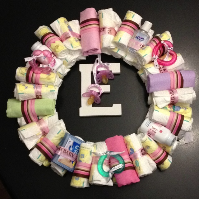 baby shower diaper wreath baby shower ideas pinterest