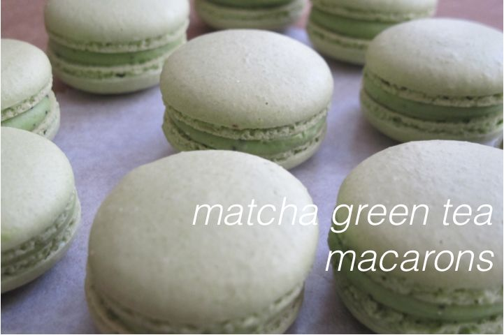 matcha green tea macarons | French Macarons | Pinterest