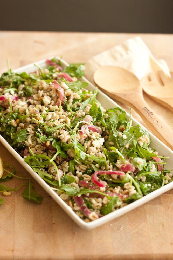 farro salad w/ herb vinaigrette | Satisfying Salad Recipes | Pinterest