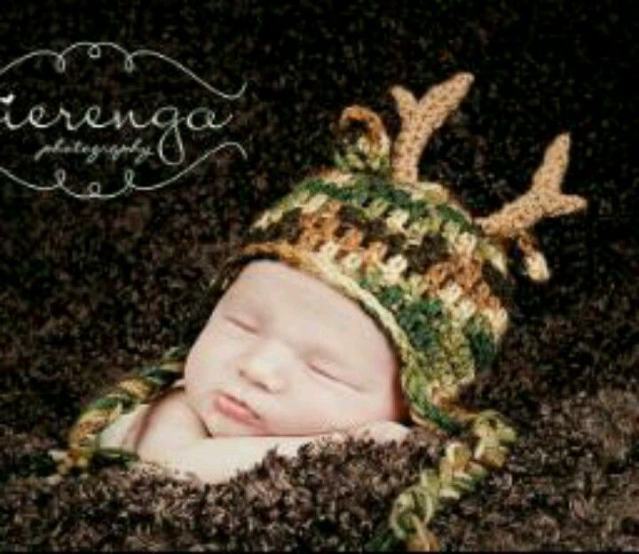 Crochet Baby Hunting Hat Pattern : Crochet camo deer hat Crochet Patterns Pinterest
