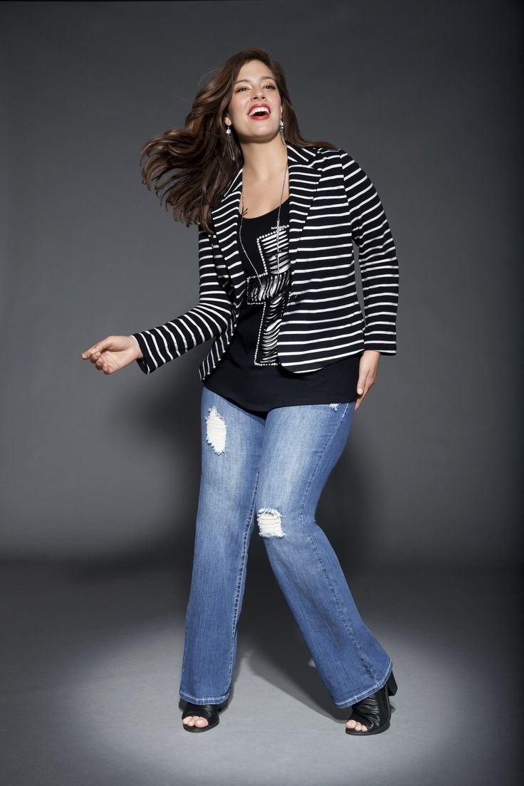 Destructed Bootcut Jean: easy-wearing, totally casual and even more comfortable! #LaneBryant