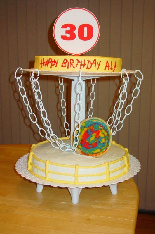 disc golf cake decorations