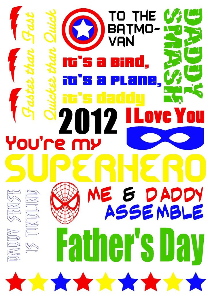superhero father's day craft