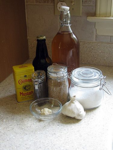 Homemade mustard is Yum. Make a mega-batch. Some for home, some for ...