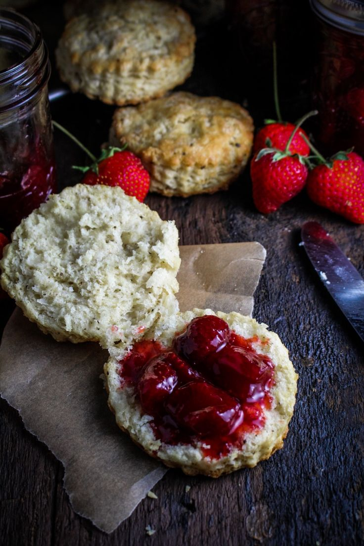 Black Pepper Buttermilk Biscuits with Strawberry Pinot Noir Jam ...