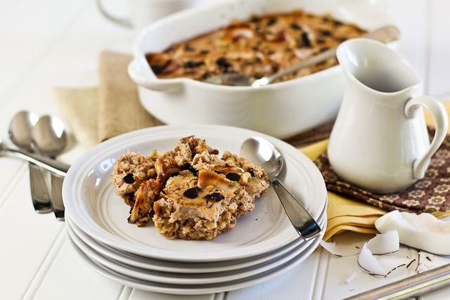 Yum yum yum! Banana Carob Baked Oatmeal | by Sonia! The Healthy Foodie