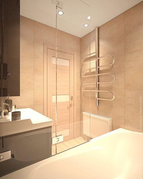 Дизайн кухня-прихожая-ванная