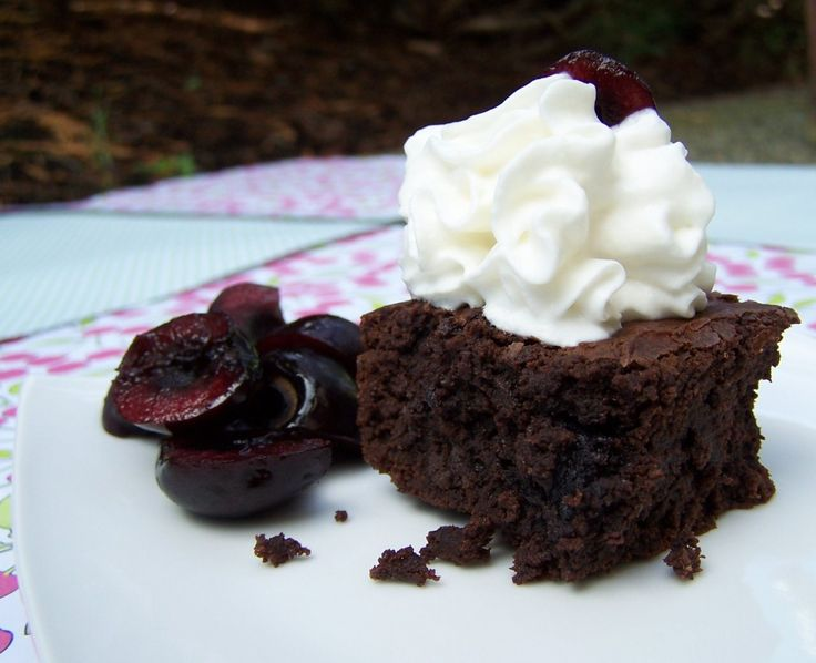 Roast Cherry Dark Chocolate Brownie Sundaes Recipes — Dishmaps