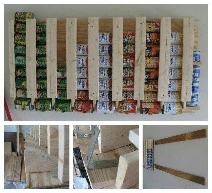 Kitchen pantry creative ideas pinterest for Pantry can storage diy