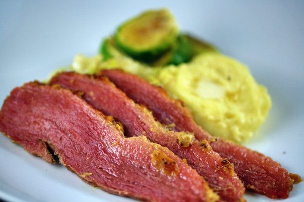 Corned Beef Glazed In Honey And Mustard Dinner With Cabbage Recipes ...