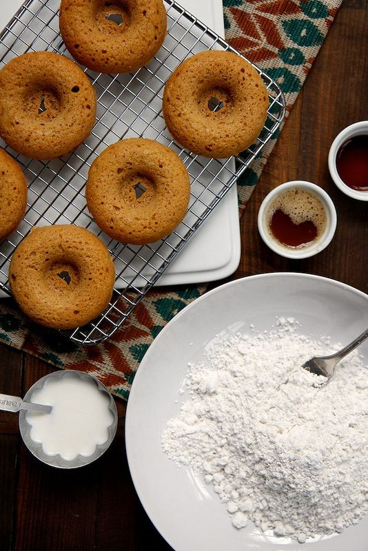 Apple Cinnamon Baked Doughnuts with Brown Butter Glaze