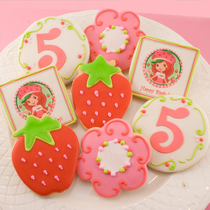 Strawberry Shortcake Cookies | Lala's Cookie Jar | Pinterest