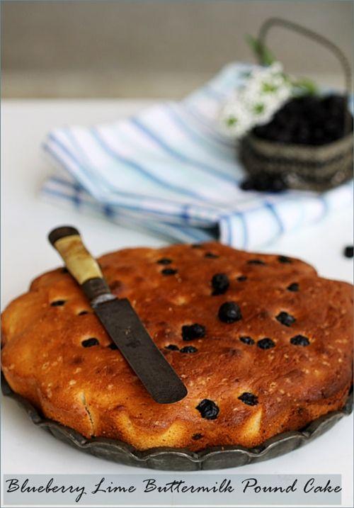 Blueberry and Lime Pound Cake Recipe. Umm...DELICIOUS! (via notcot)