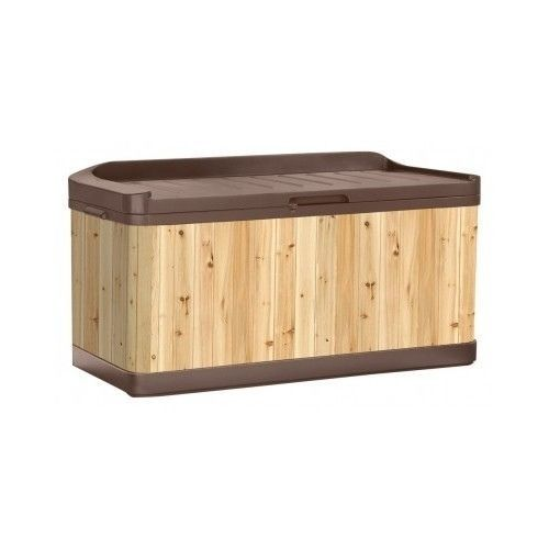 Outdoor Storage Deck Box Patio Garden Bench Pool Furniture Seat Garde