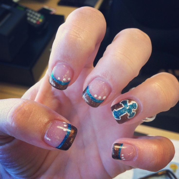 Cowgirl Nail Designs Cowgirl nails. pinned by kailina sander