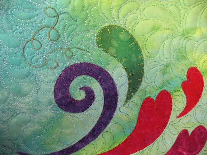 swirly heart quilt