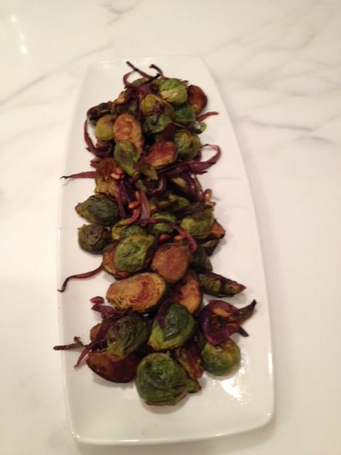 Brussels Sprouts With Bacon, Roasted Red Pepper And Pine Nuts Recipes ...