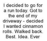 My kinda run