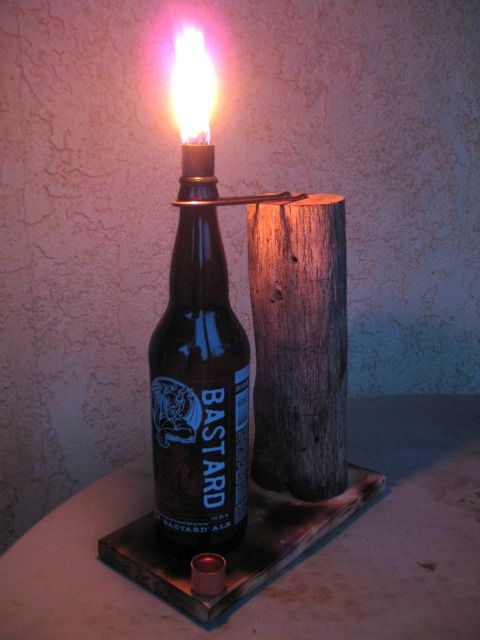 beer bottle tiki lamp diy pinterest