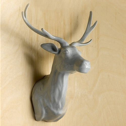 Large Ceramic Deer Wall Mount design by Twos Company: pinterest.com/pin/79727855876304634