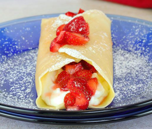 Recipe: Crespelle with Red Wine Strawberries and Ricotta