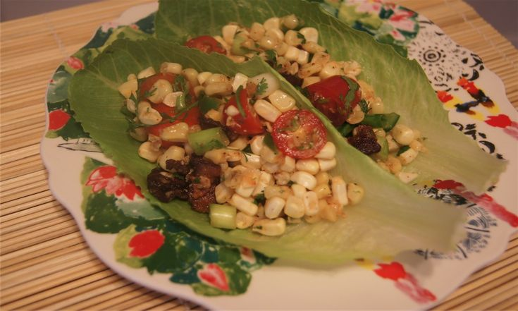 BLT Corn Salad Wraps Recipe — Dishmaps