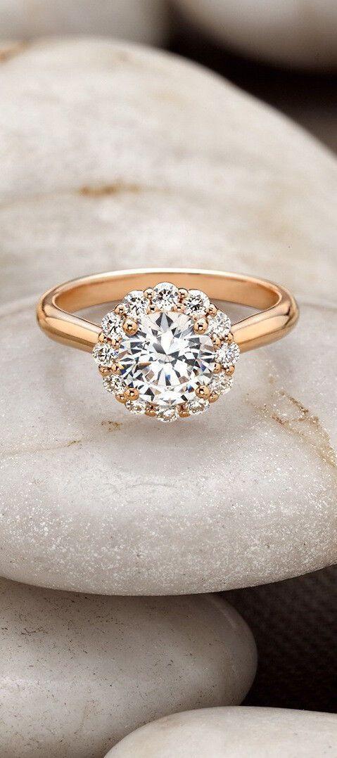 14k rose gold lotus flower diamond ring. Black Bedroom Furniture Sets. Home Design Ideas