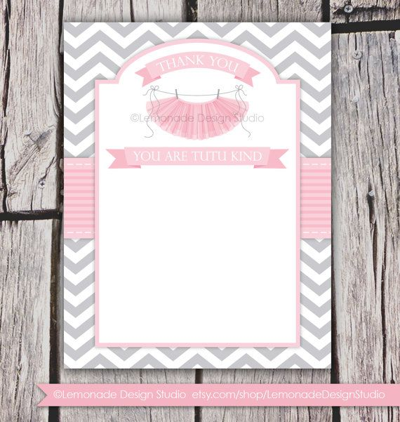 tutu cute baby shower invitation chevron pink grey girl baby sh