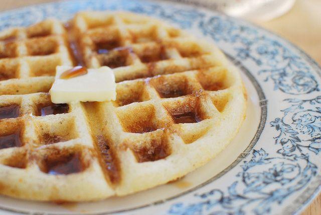 Yeasted Brown Butter Waffles: 3/4 c butter, 2 c milk, 1/2 c buttermilk ...