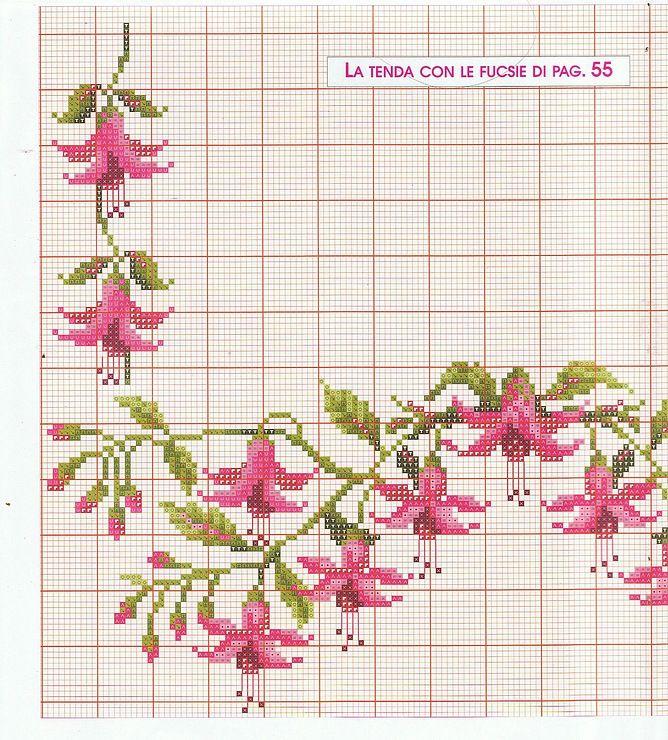 Схемы вышивка крестом шторы 24